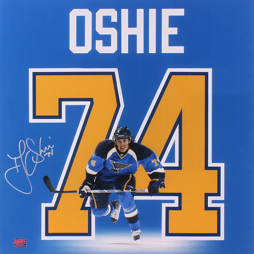 T.J. Oshie St. Louis Blues Signed Autographed Jersey Name Display 18x18