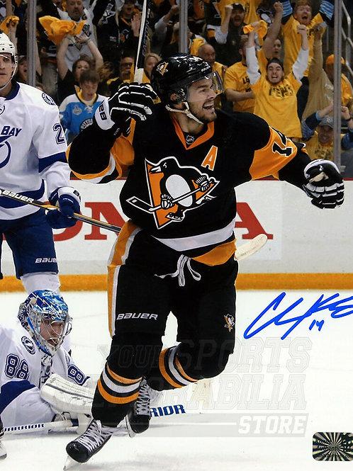 Chris Kunitz Pittsburgh Penguins Signed Autographed Goal Celebration 8x10