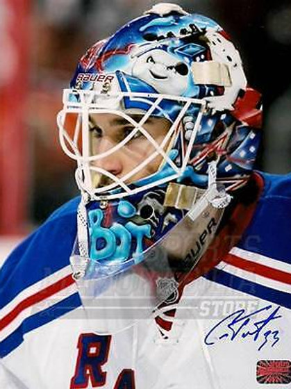 Cam Talbot New York Rangers Signed Autographed Up Close Mask 16x20