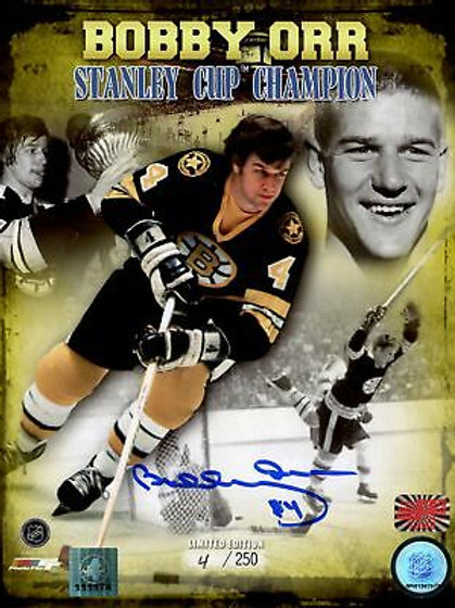 Bobby Orr Boston Bruins Signed Autographed LE #4/250 Stanley Cup Champion 8x10