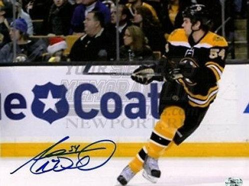 Adam McQuaid Boston Bruins signed 8x10 home jersey