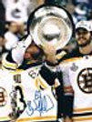 Brad Marchand McQuaid Bruins kissing Cup signed 8x10