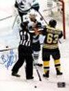 Brad Marchand Boston Bruins Signed Grab N' Punch Canucks Daniel Sedin 8x10