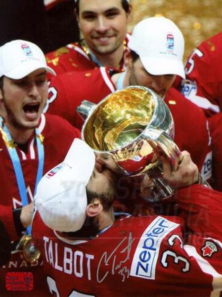 Cam Talbot Edmonton Oilers Signed Autographed 2016 IIHF Team Canada Champ 8x10