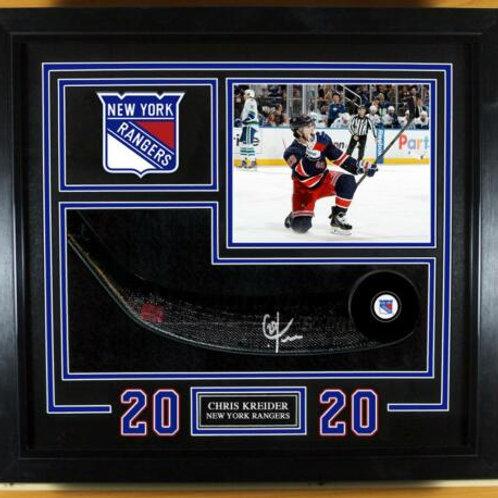 Chris Kreider New York Rangers Signed Autographed Stick Blade Frame Display