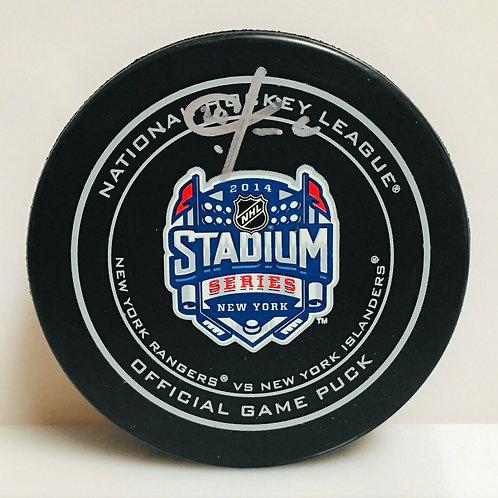 Chris Kreider New York Rangers Signed Stadium Series Official Game Puck B