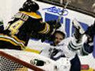 Adam McQuaid Boston Bruins Signed Stanley Cup Finals Hard Hit 8x10