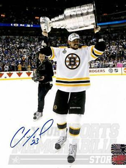 Chris Kelly Boston Bruins Signed Autographed Raising Stanley Cup 8x10 B