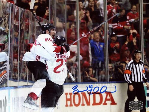 Brad Marchand Boston Bruins Signed Autographed Game Winning Goal World Cup 8x10