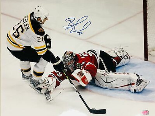 Blake Wheeler Boston Bruins Jets Signed Autographed Shot on Blackhawks 16x20