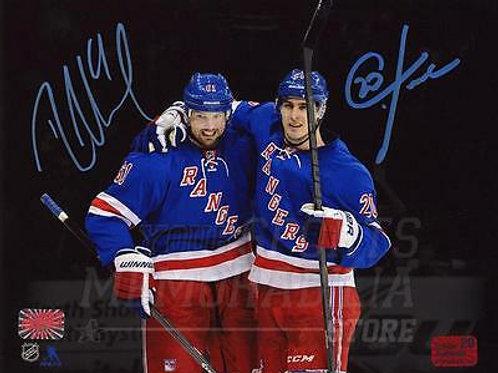 Chris Kreider Rick Nash New York Rangers Signed Autographed Spotlight 16x20