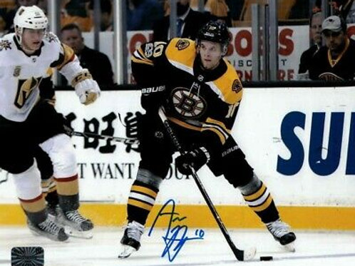Anders Bjork Boston Bruins  Signed Autographed Home Action Vs. Knights 8x10
