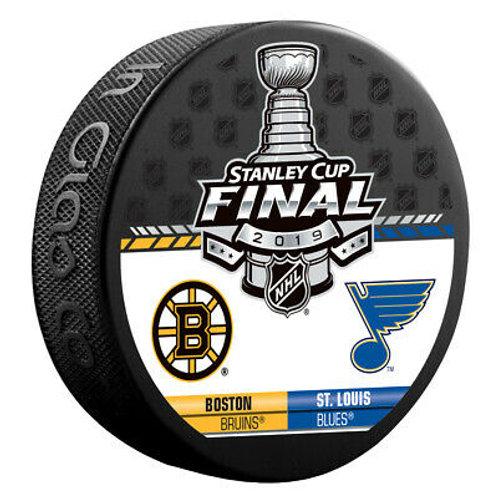 Boston Bruins St. Louis Blues 2019 Stanley Cup Duel Logos  Souvenir Hockey Puck