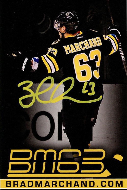 Brad Marchand Boston Bruins Signed Autographed BM63 YSMS Promo Card