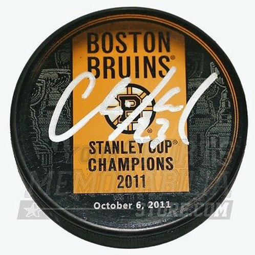Chris Kelly Boston Bruins Signed Stanley Cup Champions Banner Hockey Puck