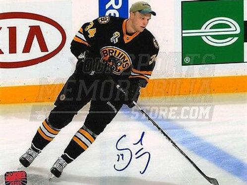 Carl Soderberg Boston Bruins Signed Autograph Pre-Game Skate 8x10 Boston Strong