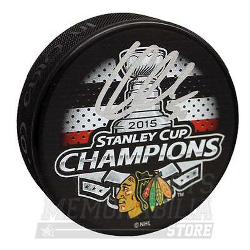Corey Crawford Chicago Blackhawks Signed Autograph 2015 Stanley Cup Champs Puck