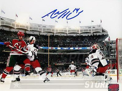 Adam Henrique New Jersey Devils Signed Autographed 2014 Stadium Series 8x10
