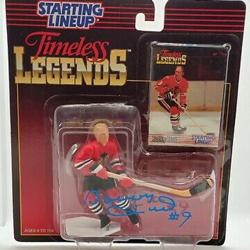 Bobby Hull Chicago Blackhawks signed Original Starting Lineup figure 1995