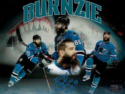 Brent Burns San Jose Sharks Signed BURNZIE Montage 8x10 W/ Burns Authentic COA