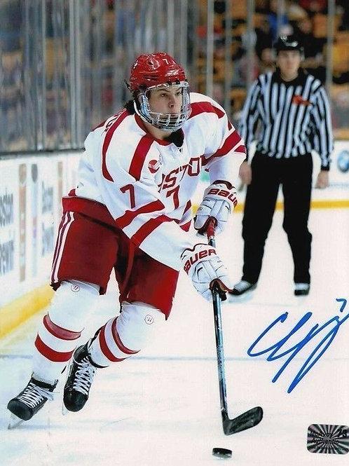 Charlie McAvoy Boston Bruins Signed autographed Boston University 8x10 V