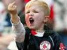 Boston Red Sox little fan middle finger  8x10 11x14 16x20 photo 547