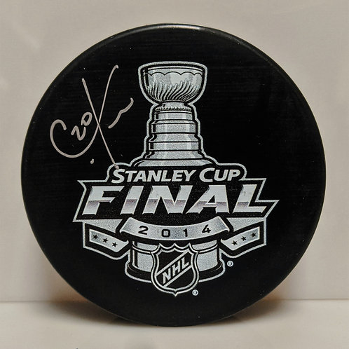Chris Kreider New York Rangers Signed Autographed 2014 Stanley Cup Finals Puck