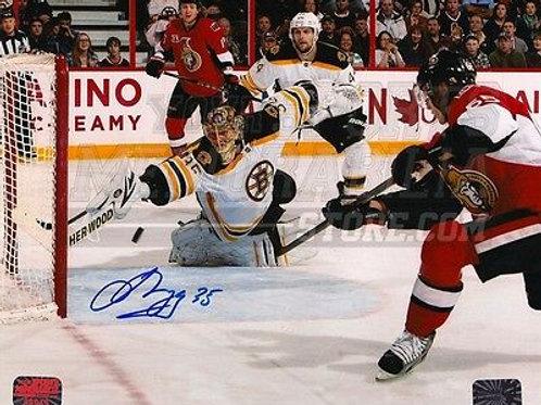 Anton Khudobin Boston Bruins Signed Autographed Stick Save vs Ottawa 8x10