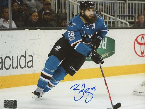 Brent Burns San Jose Sharks Signed Autographed Home Action 8x10