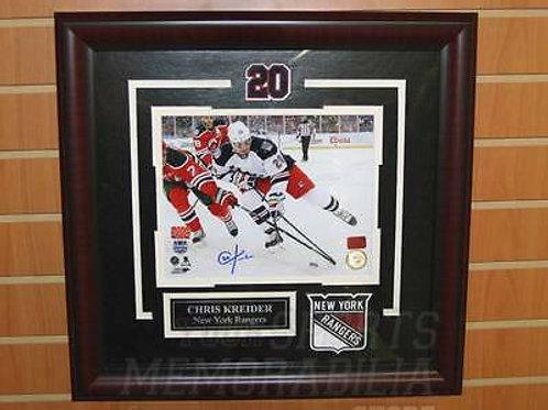 Chris Kreider New York Rangers Signed Autographed Stadium Series 8x10 Framed