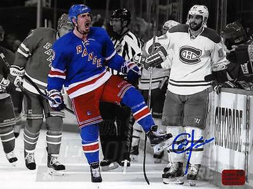 Chris Kreider New York Rangers Signed Autographed Spotlight Celebration 8x10