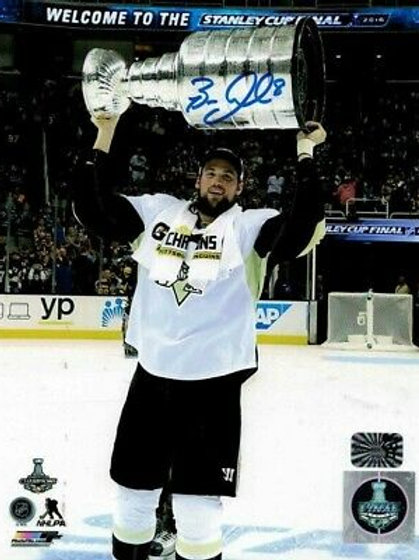 Brian Dumoulin Pittsburgh Penguins Signed 2016 Stanley Cup Raise 8x10