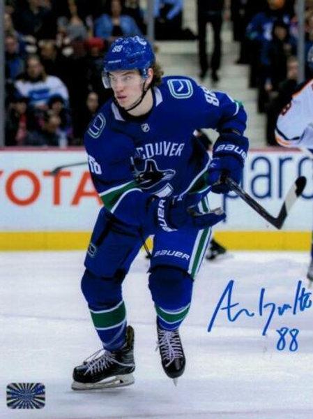 Adam Gaudette Vancouver Canucks signed 1st NHL game 8x10 VB