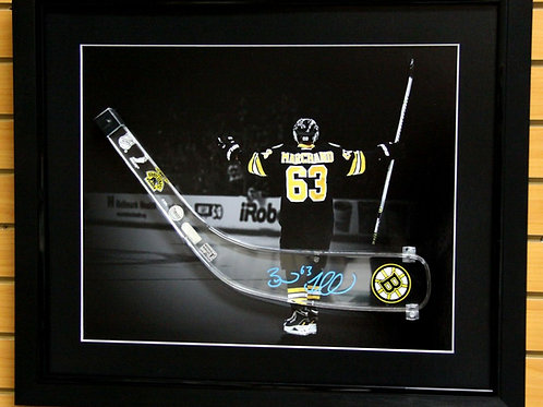 Brad Marchand Boston Bruins signed acrylic Stick blade frame display
