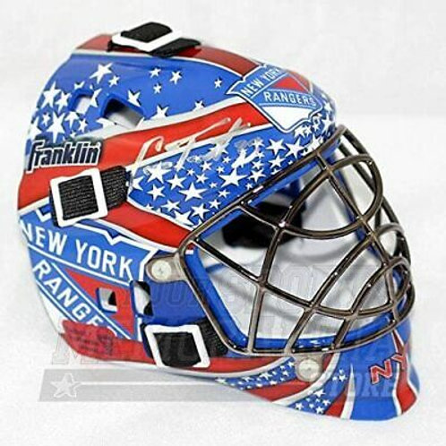 Cam Talbot New York Rangers Signed Autographed Rangers Mini Goalie Mask - B