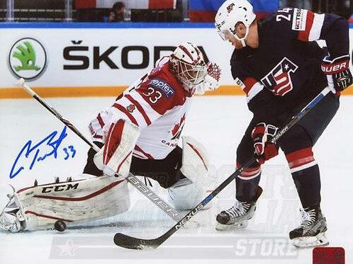 Cam Talbot Edmonton Oilers Signed Autographed 2016 IIHF Team Canada vs USA 8x10