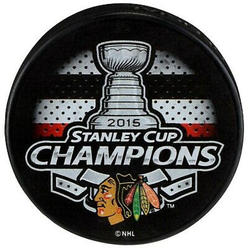 Chicago Blackhawks 2015 Stanley Cup Champions Souvenir Hockey Puck