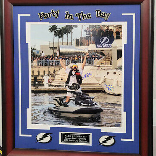 Alex Killorn Tampa Bay Lightning signed 16x20 FRAMED Party in the Bay WAVY