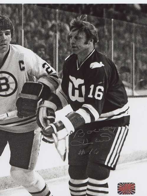 Bobby Hull Hartford Whalers signed 8x10 w/ Terry O'Reilly