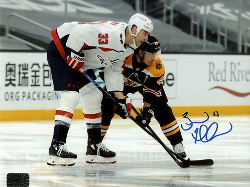 Brad Marchand Boston Bruins Signed Autographed Faceoff Vs Chara 16x20