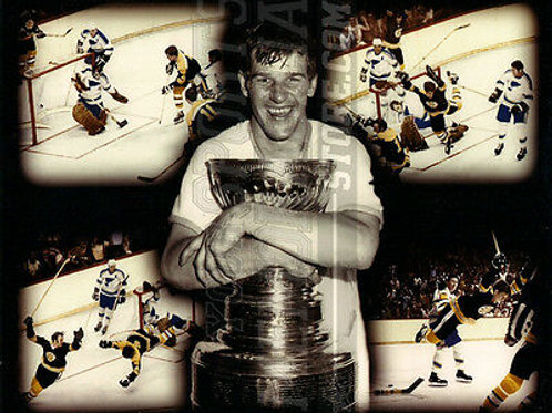Bobby Orr Boston Bruins Stanley Cup flying goal 8x10 11x14 16x20 montage   1397