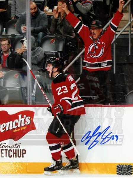 Bobby Farnham New Jersey Devils Signed Autographed 1st NHL Goal Celebration 8x10
