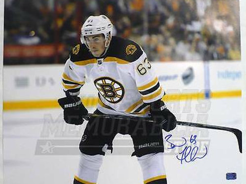 Brad Marchand Boston Bruins Signed Autographed Up Close Away Game 16x20 A