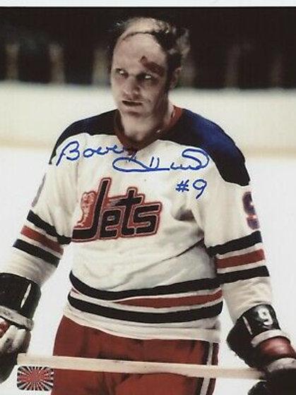 Bobby Hull Winnipeg Jets signed 8x10 Cut on Forehead