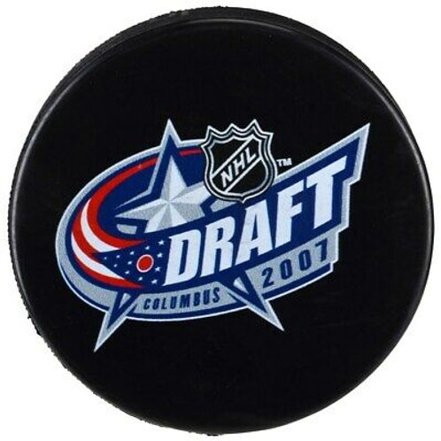 2007 NHL Draft Unsigned Hockey Puck