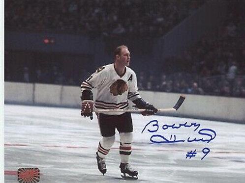 Bobby Hull Chicago Blackhawks signed 8x10 Center Ice Holding stick