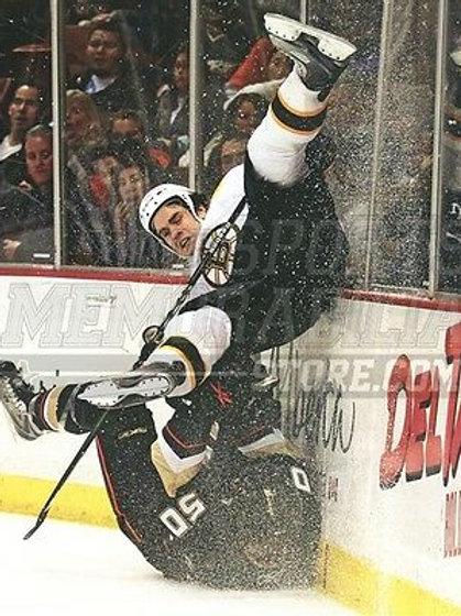 Adam Mcquaid Boston Bruins check along boards ice  8x10 11x14 16x20 photo 0982