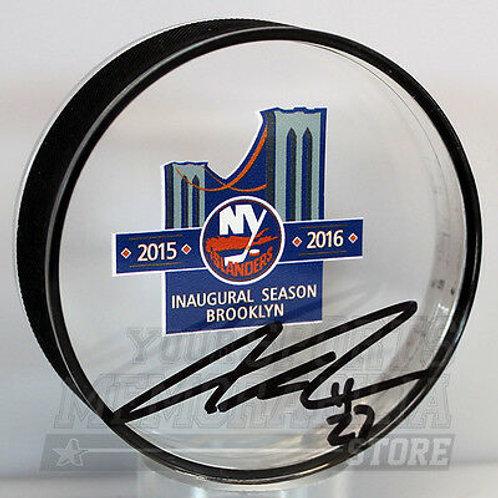 Anders Lee New York Islanders Signed Autographed Inaugural Season Acrylic Puck