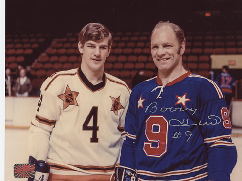 Bobby Hull Chicago Blackhawks signed 8x10 w/ Bobby Orr All-Star
