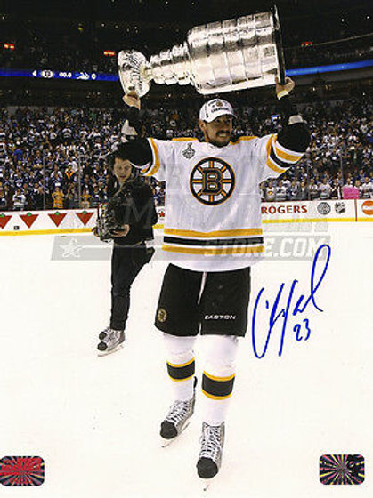 Chris Kelly Boston Bruins Signed Autographed Raising Stanley Cup 8x10